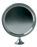 Round Medallion, chromeplated