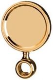 Round Medallion, goldplated