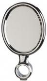 Oval Medallion, chromeplated