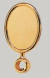 Oval Medallion, goldplated