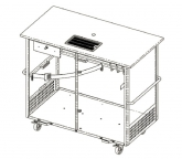Beer cart with drip tray (300x180)