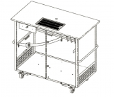 Beer cart with drip tray (400x220 mm)