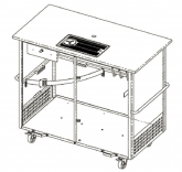 Beer cart with drip tray (400x220 mm) with a glass rinser